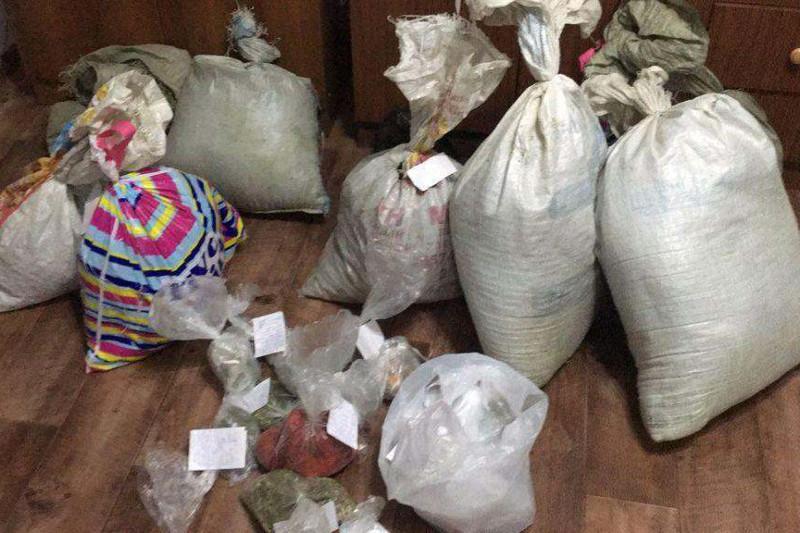 20 мешков c марихуаной изъяли у жителя Алматинской области