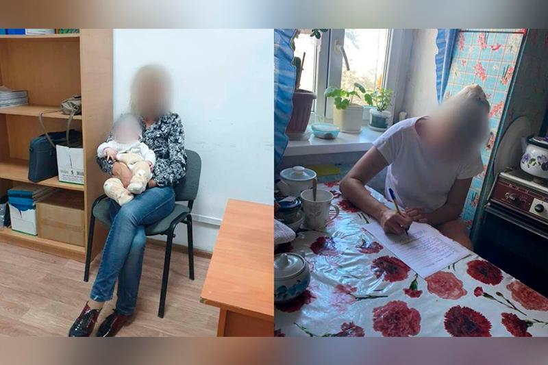Пьяная женщина разгуливала с полугодовалым ребенком на руках в Атырау