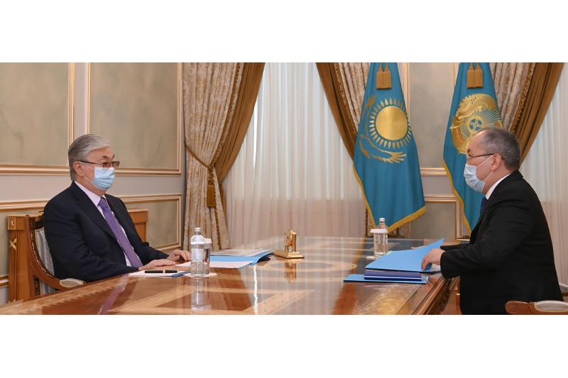 Президент РК принял председателя Агентства по финансовому мониторингу Жаната Элиманова