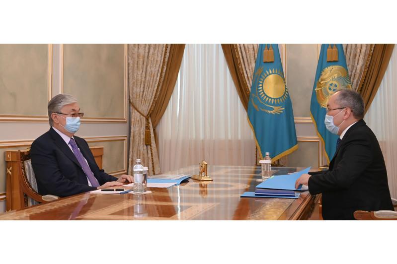 ҚР Президенти Молиявий мониторинг агентлиги раисини қабул қилди