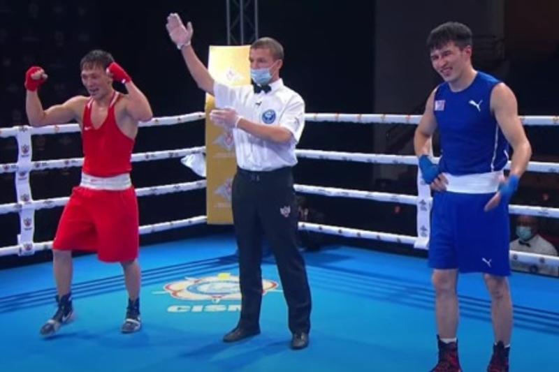 Казахстанский боксер победил вице-чемпиона Азии на ЧМ-2021 среди военнослужащих