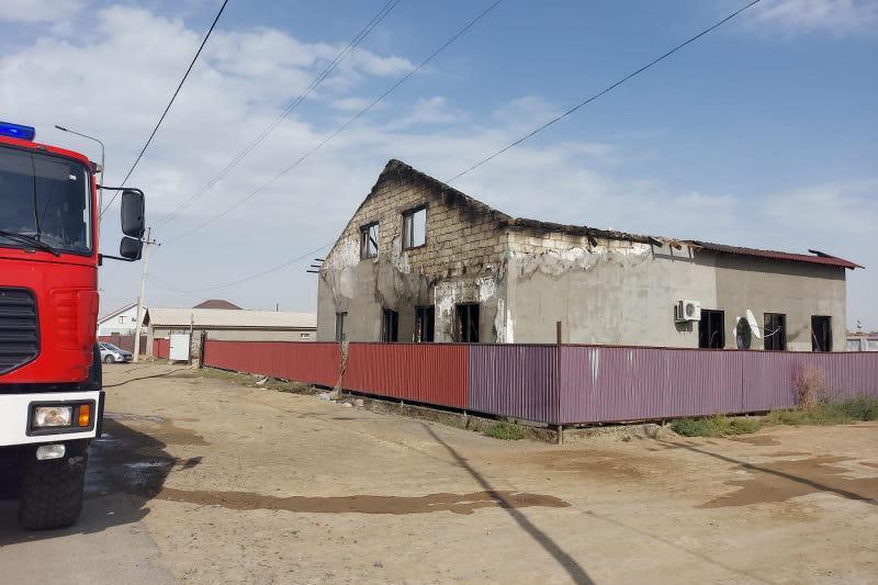Жилой дом сгорел в Атырау