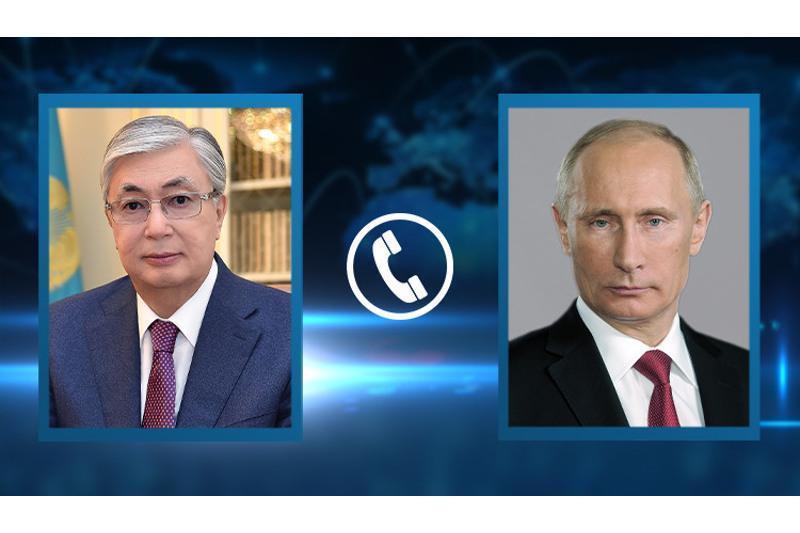 哈俄两国元首举行电话会谈