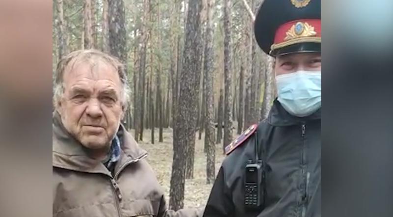 Потерявшегося грибника нашел акмолинский полицейский