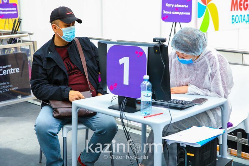 Сколько человек получили вакцину против COVID-19 в РК