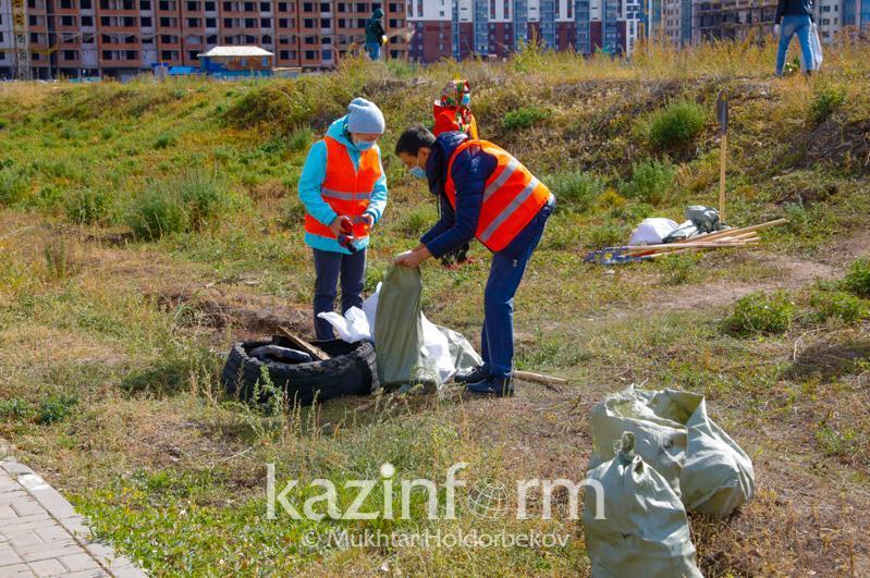 Ekologııalyq aktsııa: Qazaqstanda 11 myń tonnadan astam qoqys jınaldy