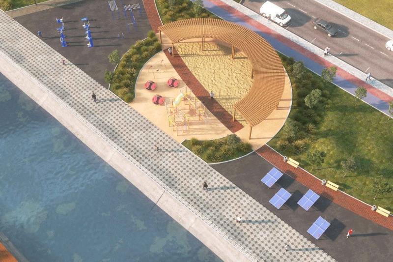 Пирсы для рыбалки, спортплощадки и велодорожки: новую набережную обустроят в Нур-Султане