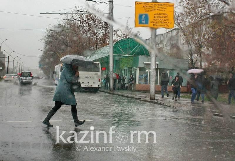 На севере Казахстана ожидаются дожди со снегом