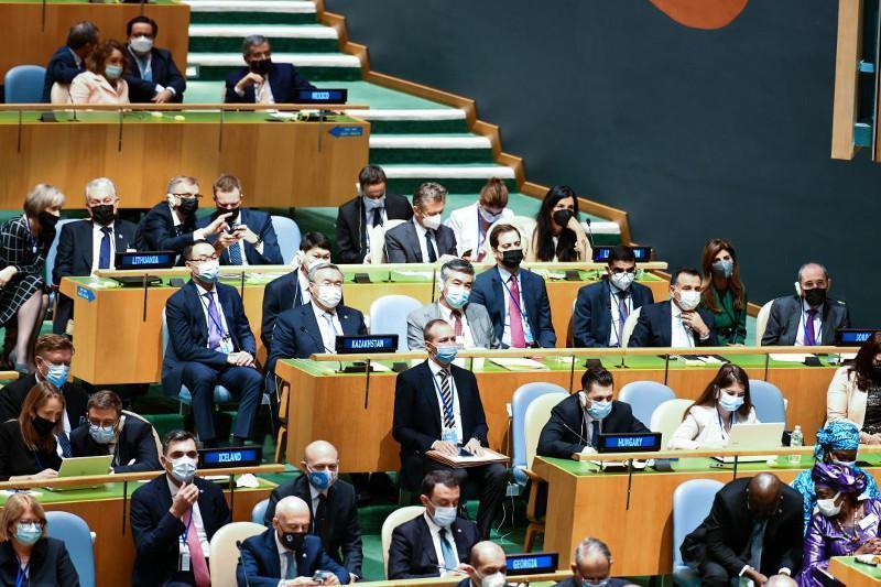 哈萨克斯坦代表团出席第76届联合国大会