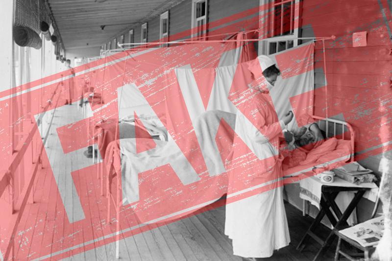 Фейк: Пандемия испанского гриппа была вызвана массовыми вакцинациями