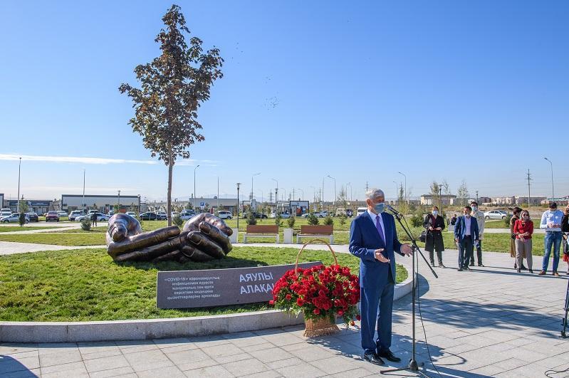 Уникальный памятник установили к 20-летию областного центра в Талдыкоргане