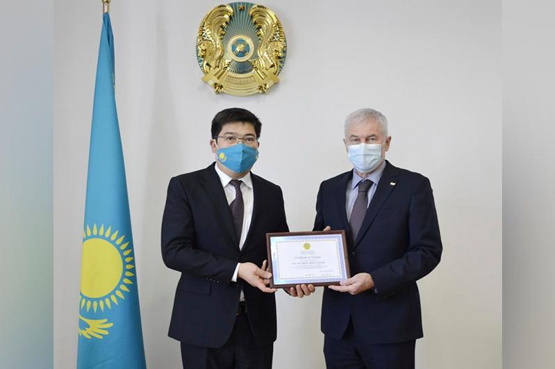 Заместитель министра иностранных дел Казахстана принял Посла Венгрии