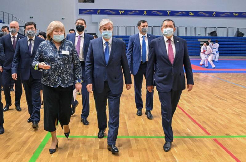 President Tokayev visits Khalyk Arena Sports Complex