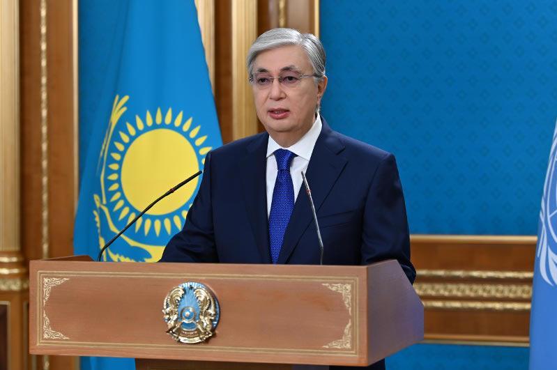 托卡耶夫总统在联合国第76届大会上发表讲话
