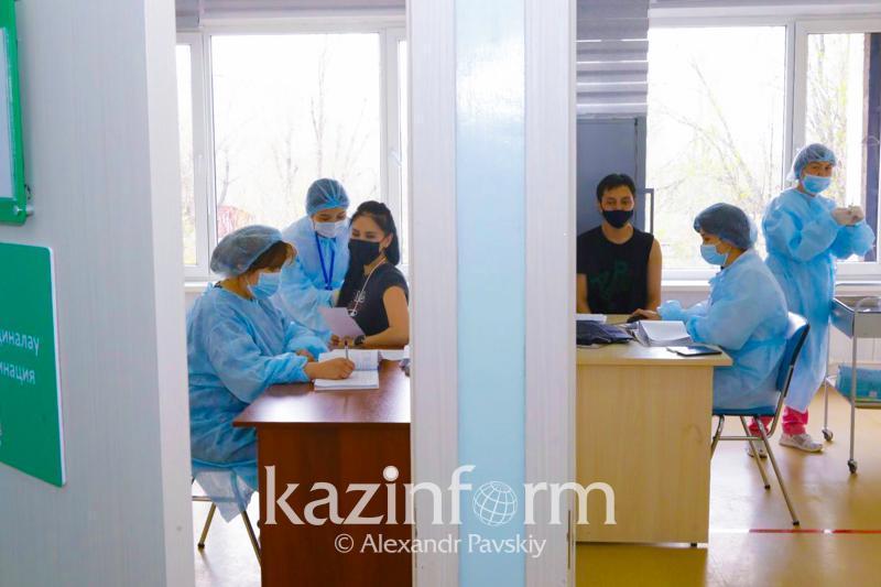 Almatyda bir táýlikte 6 myńnan astam adam vaktsına aldy