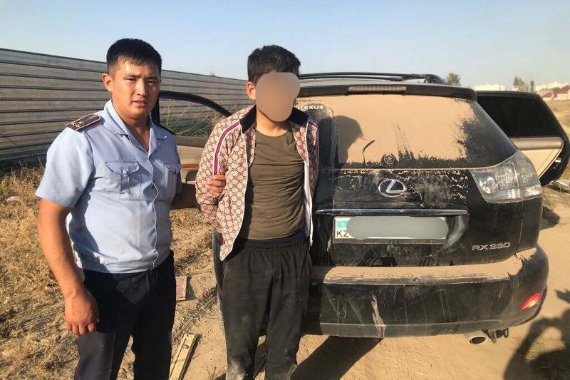 Угнанный Lexus вернули жительнице Алматинской области
