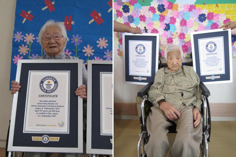107-yr-old Japanese identical twins recognized as world's oldest
