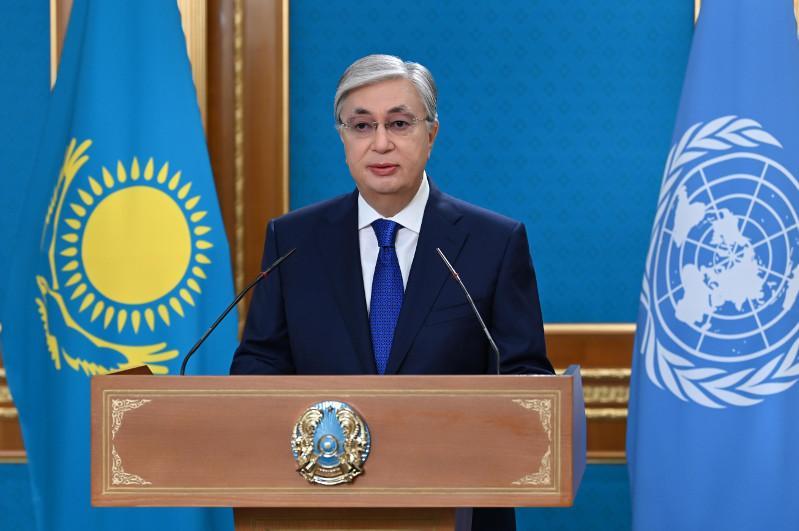 托卡耶夫总统在联合国粮食系统峰会上发表讲话
