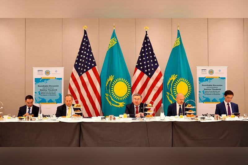 Kazakh FM Tileubedi meets with US business reps
