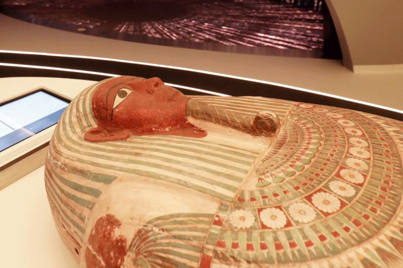 Ancient pharaonic coffin arrives at Egypt pavilion in Expo 2020 Dubai