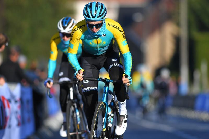 Казахстанский велогонщик вошел в тридцатку лучших на ЧМ в Бельгии