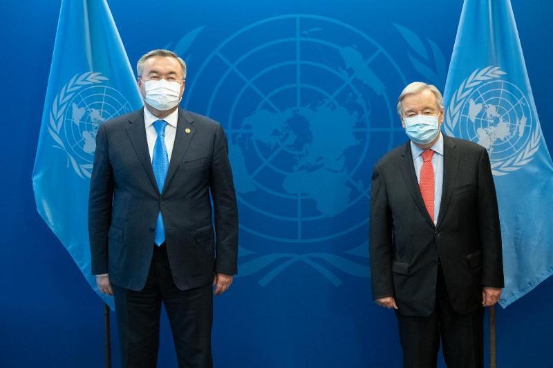 Глава ООН поблагодарил Президента РК за размещение в Алматы Миссии по содействию Афганистану
