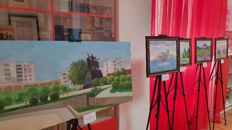 Польские пейзажи и памятник Богенбаю батыру украсили выставку 16-летней художницы из Нур-Султана