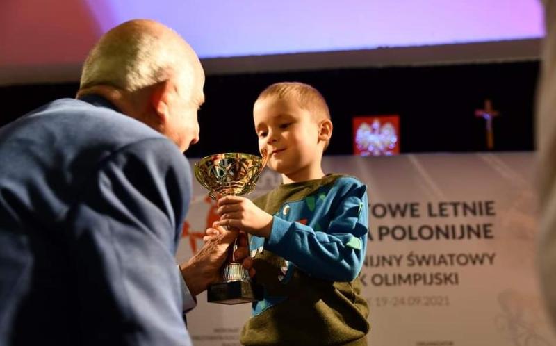 Пятилетний уроженец Казахстана получил награду Польского олимпийского комитета