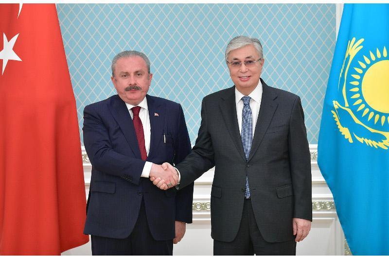 Президент Казахстана принял Председателя Великого Национального собрания Турции Мустафу Шентопа