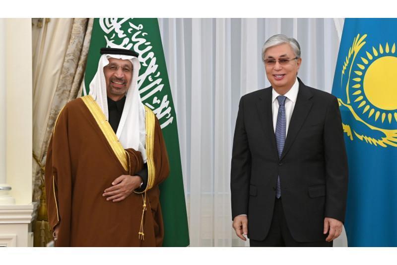 托卡耶夫总统会见沙特投资大臣