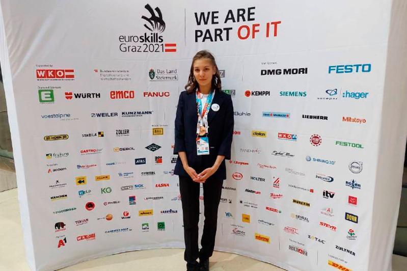 Выпускница павлодарского колледжа завоевала «бронзу» на чемпионате «Euroskills-2021»
