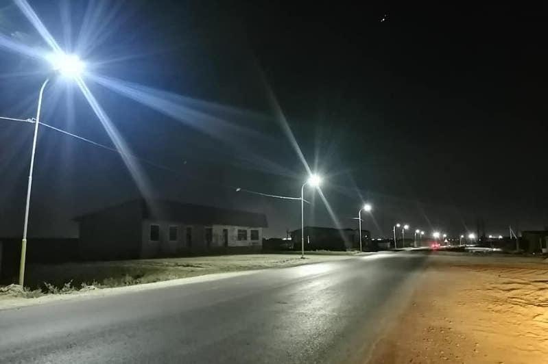 В Сарыагаше освещены свыше 1300 улиц