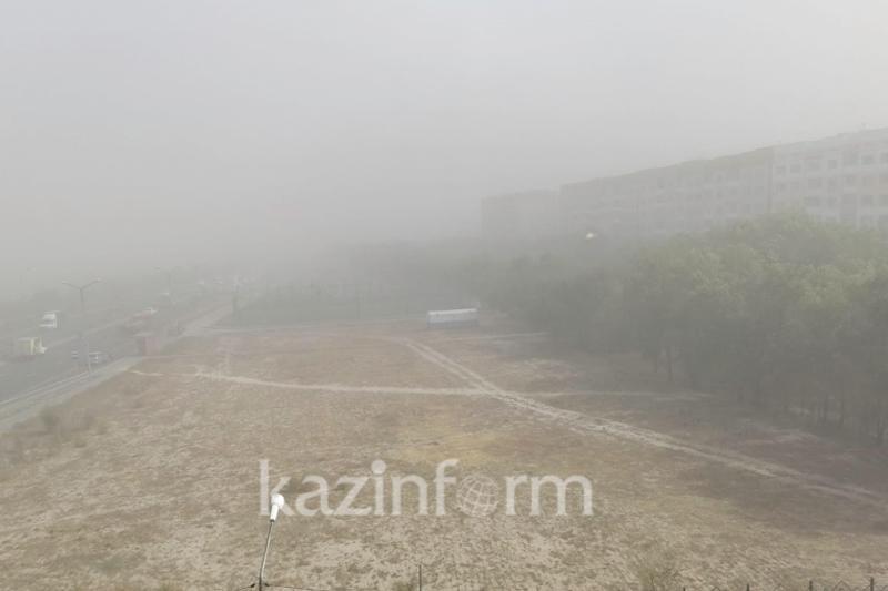 Алматы накрыла пыльная буря