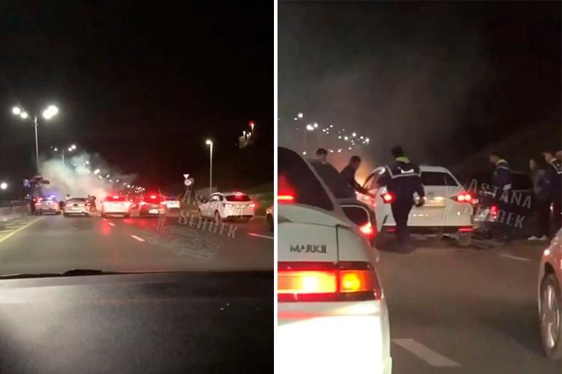 Массовое ДТП устроил скрывавшийся от погони угонщик в Алматы