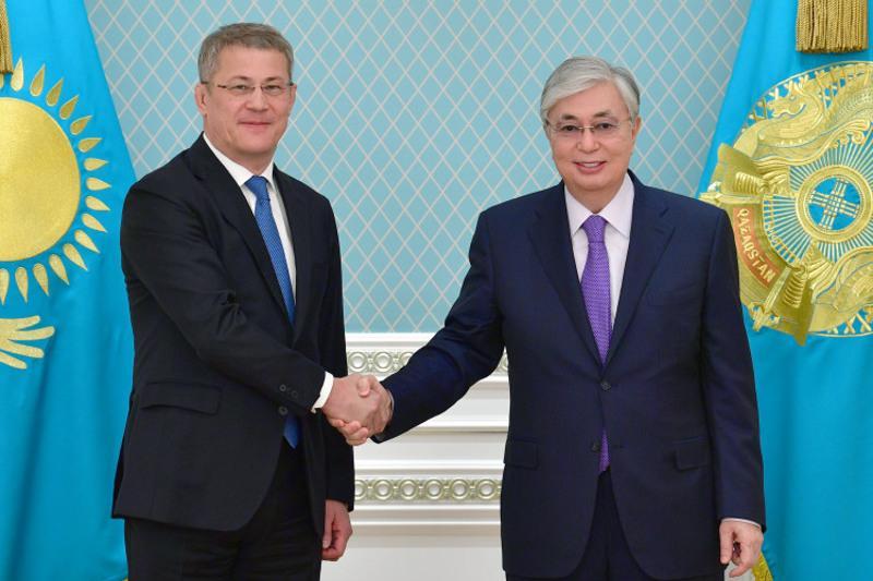 Президент Казахстана принял главу Республики Башкортостан