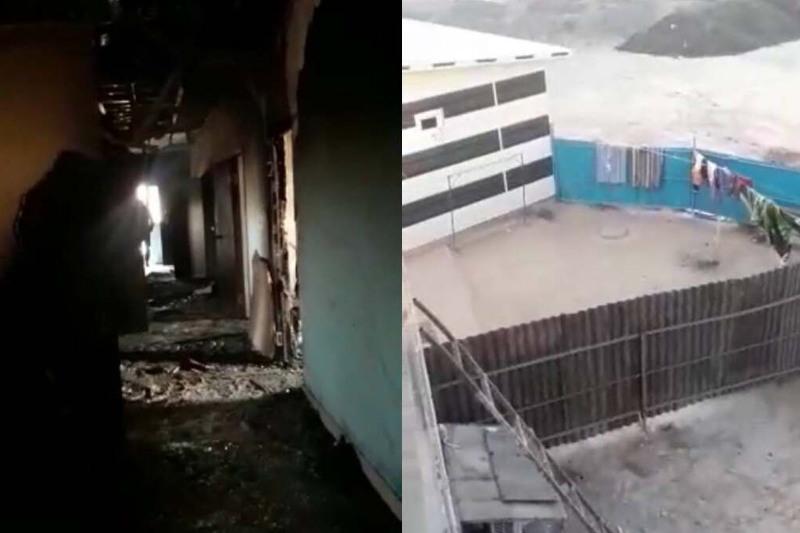 Бойцы СОБР эвакуировали людей из горящей гостиницы