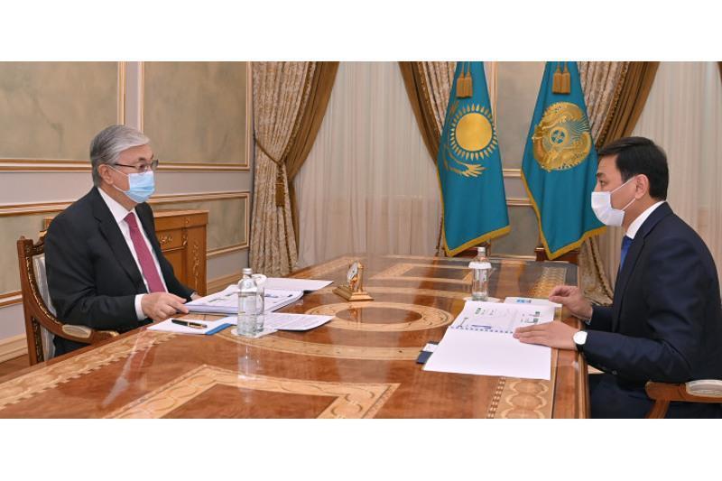 总统接见努尔苏丹市市长