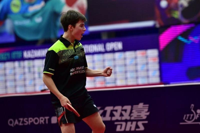 哈萨克斯坦选手在世界乒乓球青年锦标赛上夺得1金1银