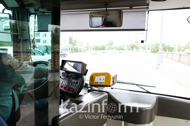 Водитель маршрутного автобуса ездил без прав в Нур-Султане