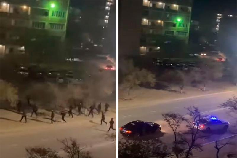 В Сети появилось видео массовой драки в Актау