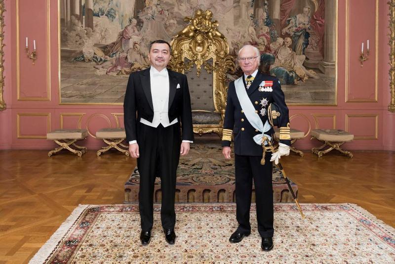 哈萨克斯坦大使会见瑞典国王