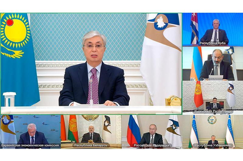 Касым-Жомарт Токаев на заседании ВЕЭС: Сотрудничество с третьими странами становится особенно важным