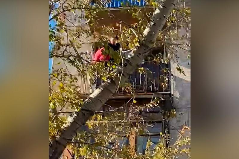 Женщина выпала с балкона четвертого этажа в Рудном