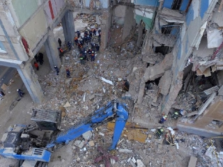 Magnitogorsk building collapse rescue operation over