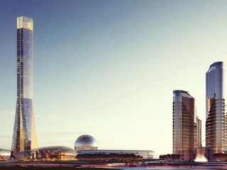 Sketch of World Trade Center in Astana published