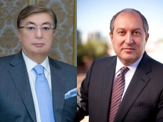 Kassym-Jomart Tokayev, Armen Sarkissian talk over phone