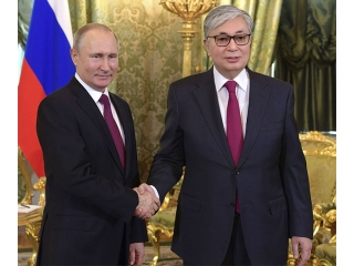 Presidents of Kazakhstan, Russia issue joint statement