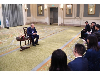 Nursultan Nazarbayev gives interview to China's mass media