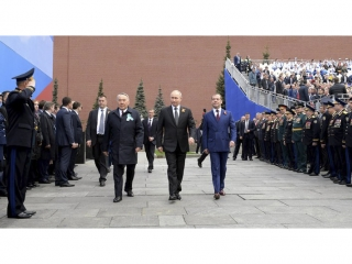 Nursultan Nazarbayev came to Moscow for Victory Day Parade
