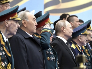 Nursultan Nazarbayev attended Victory Day Parade in Moscow